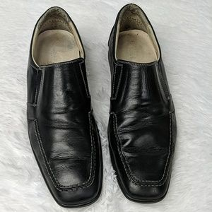 Bacco Bucci leather slip on square toe loafer